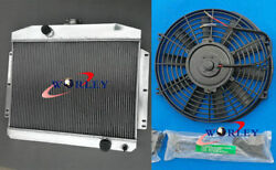 62mm Aluminum Radiator+fan For Mercury With Ford 302 V8 Mt 1949-1951 1950 1951