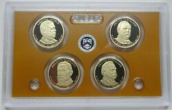 2012-s Us Mint Presidential Proof Dollar 4-coin Set - No Box
