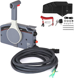 Mophorn Outboard Remote Control Box Side Mount Outboard Motor Fits For 703 Push