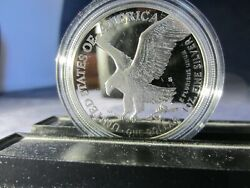 One 2021-s Silver American Eagle Dollar Proof Type 2 Eagle Landing 1 Troy Ounce