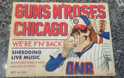Guns N Roses Posterwrigley Fieldchicago Il9/16/2021signed And Numbered