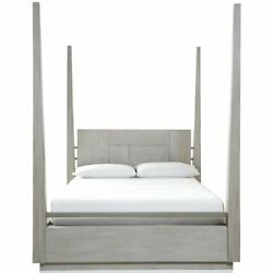 Modus Destination King Poster Bed In Cotton Gray