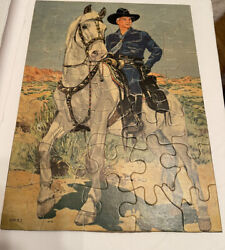 Hopalong Cassidy 9 X 12 Puzzle By Kagran Toy Co. 1950s