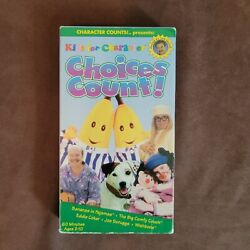 Kids for Character Choices Count VHS 1997 Bananas In Pajamas Big Comfy Couch VTG $12.75