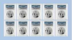 2020 10mark 2oz Silver Allegories - Italia And Germania Pcgs Ms70 Fs - Lot Of 10