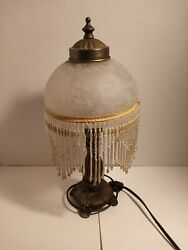Antique Hanging Crystal Type Lamp with Cut Glass Very nice lamp.