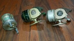 3 Vintage Fishing Reels. South Bend 65a Shakespeare 1700. Mercury.