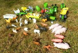 Farm Toys Tractors And Trailers Machinery 1/32 Scale New Ray Milking Vehicles Ect