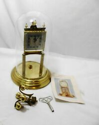 Vtg Kundo 400 Day Anniversary Clock Glass Dome Parts Only W Germany