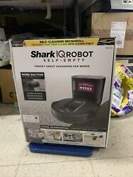 Shark R100s Iq Robot Vacuum Cleaner With Self-empty Base Black New Rv1000s