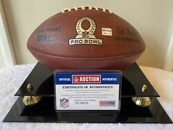 2014 Nfl Pro Bowl Game Used Football - Hawaii - Psa/dna