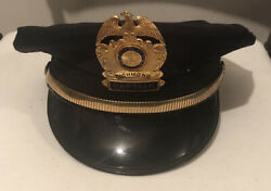 Vintage 50andrsquos 60andrsquos Indiana State Police Officers Highway Patrol Captain Hat Old
