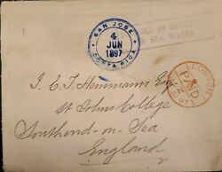 O 1897 Costa Rica, Submarine Mail, Damage By Immersion In Sea Water, From San J