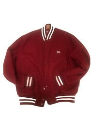 Kith X Coca-cola X Golden Bear Wool Varsity Jacket Red Sz L Pre Owned