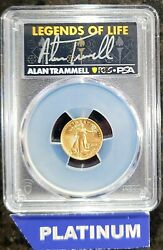 2021 5 American Gold Eagle Type 2 Pcgs Psa Ms70 Legends Of Life Alan Trammell