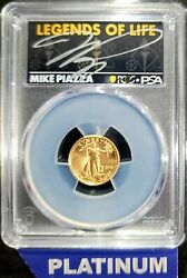 2021 5 American Gold Eagle Type 2 Pcgs Psa Ms70 Legends Of Life Mike Piazza