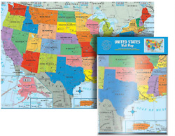 Ultimate Jumbo United States Wall Map US Poster– USA 50 40quot; x...
