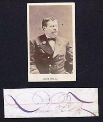 James Fisk Jr - C1870 Rarest Robber Baron - Signature And Photo - Murdered Age 37
