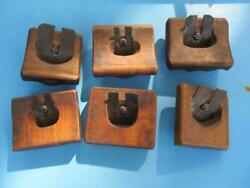 6 Rare Antique Carpenter Woodworking Hand Molding Groove Planes Tools