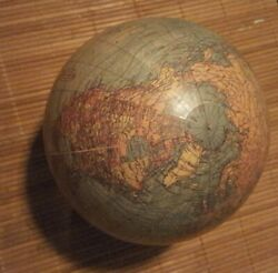 Vintage Antique Globe By Weber Costello Co. Copyright 1921