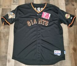 Sf Giants Buster Posey Jersey Mens Size 56 World Series 2010 Authentic Majestic