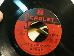 The Escorts 1960 Doo Wop 45 Leaky Hart And His Red Go-kart Scarlet Label Vg