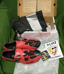 Lake Cx 402 Custom Carbon Fit Cycling Shoes Size 45.5 Men's 11.5 Wide New In Box