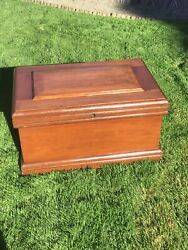 Vintage Late 1800's Coffin Tool Box 19x36in