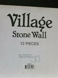 Dept 56 Heritage Village Collection STONE WALL Set Of 12