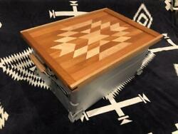 Snow Peak Camping Wooden Tray Lunch Tray Ortega Pattern 02 Shelcon Size Japan