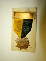 1930 Vfw Veterans Foreign Wars Us Baltimore Md Delegate Ribbon And Medal
