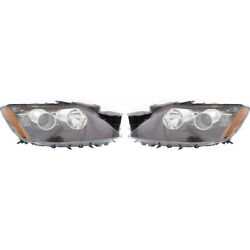 For Mazda Cx-7 Headlight Assembly 2012 Pair Lh And Rh Side Hid Type Ma2518165