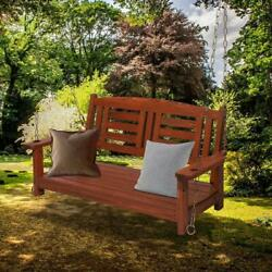 Wooden Patio Swing Chair2-seater Capicity Garden Hanging Chair Without Frame
