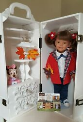 New Wardrobe Wooden Carrying Case/trunk For 18 American Girl Doll Or Similar