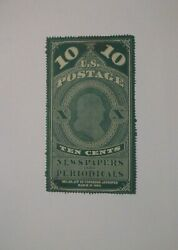 Us Pr2 Mint Hinged Green Newspapers And Periodicals Ten Cent Stamp Scv 300