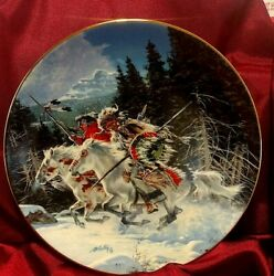 Frank Mccarthy Land Of The Winter Hawk Collectible Plate Hamilton Western