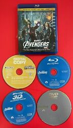 Marvels The Avengers - Blu Ray/dvd Movie Clean 4 Disc Option