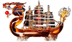 Wine Whiskey Dragon Creative Boat Style Design Bar Home Gift Decanter Bottle New