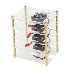 Acrylic Transparent Case Cover Enclosure With Cooling Fan For Raspberry Pi