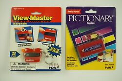 Pictionary And View Master Keychain Games New In Package