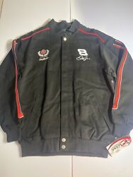 Dale Earnhrdt Jr Chase Authentics Budweiser Racing Button Up Jacket Size Medium