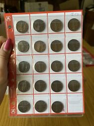 Series 19 Coins Kingdom D'italia 5 Cent Spiga Years From 1919 A 1937 Aa