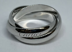 750 18k White Gold 1999 Rolling Band Size 8 51 4.75 Gr