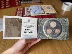 Pack Ipzs Triptych Coins Livres 100 200 500 Bank D'italia Silver Fdc