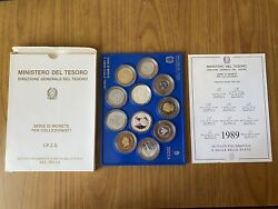 Series Republic Italian 11 Coins 1989 Proof 500 Livres Bell Silver