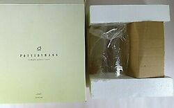 Set of 2 Pottery Barn 7 quot; Glass Simple Wall Vase Unused in Original Box Hardware