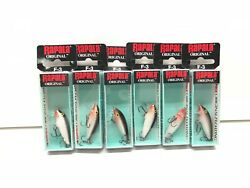 Rapala Original Floating F-3 1and1/2 Andrdquo 1/16oz Dives 2-4andrsquo - Lot Of 6 - Silver