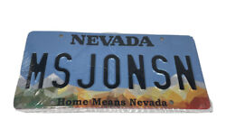 Nevada Vanity Plate Pair Ms Jonsn New In Package Collectible Craft Sunset