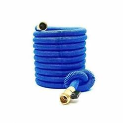 Expandable Garden Hose 50ft Extra Strong Reel. Brass Connectors With Blue