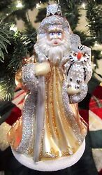 Waterford Holiday Heirlooms 2016 Opulence Santa Ornament Brand New 40021171